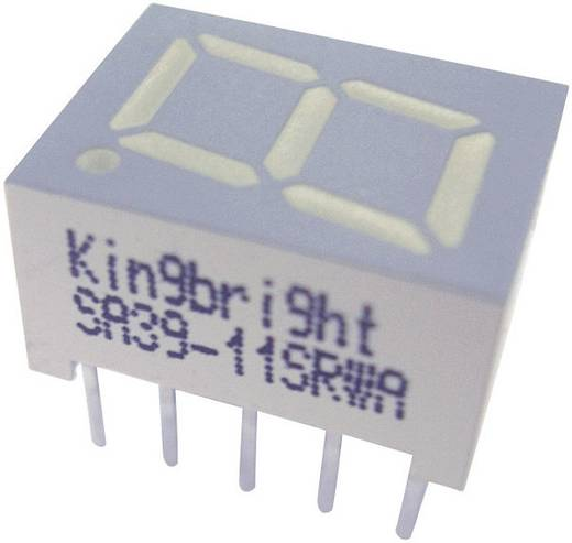 Kingbright 7-Segment-Anzeige Rot 10 mm 2 V Ziffernanzahl: 1 SA39-11EWA