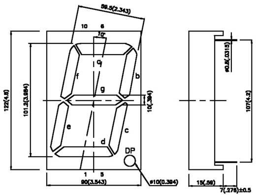 7-Segment-Anzeige Grün 100 mm 8 V, 4 V Ziffernanzahl: 1 Kingbright SC40-19SGWA