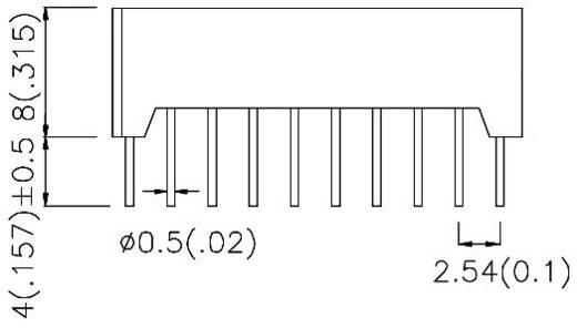 LED-Bargraph 10fach Gelb (B x H x T) 25.4 x 10.16 x 8 mm Kingbright DC-10YWA