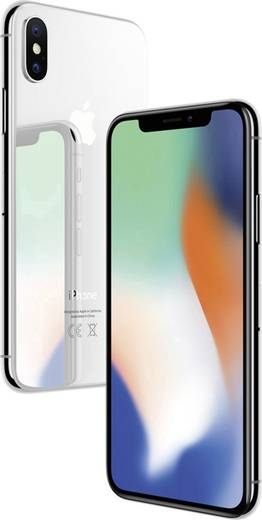 Apple iPhone X 64 GB Silber