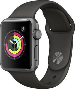 Image of Apple Watch Series 3 38 mm Aluminiumgehäuse Spacegrau Sportarmband Grau