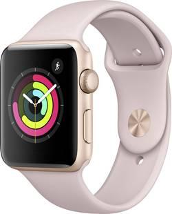 Image of Apple Watch Series 3 42 mm Aluminiumgehäuse Gold Sportarmband Sandrosa