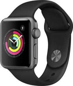 Image of Apple Watch Series 3 38 mm Aluminiumgehäuse Spacegrau Sportarmband Schwarz