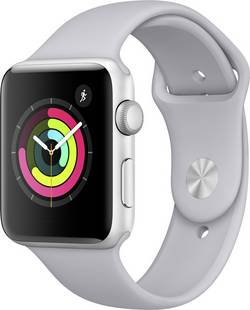 Image of Apple Watch Series 3 42 mm Aluminiumgehäuse Silber Sportarmband Nebel-Grau (matt)