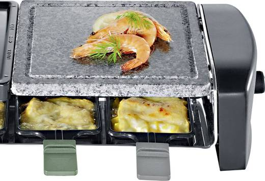 severin rg 9645 raclette 8 pf nnchen mit grillstein schwarz kaufen. Black Bedroom Furniture Sets. Home Design Ideas