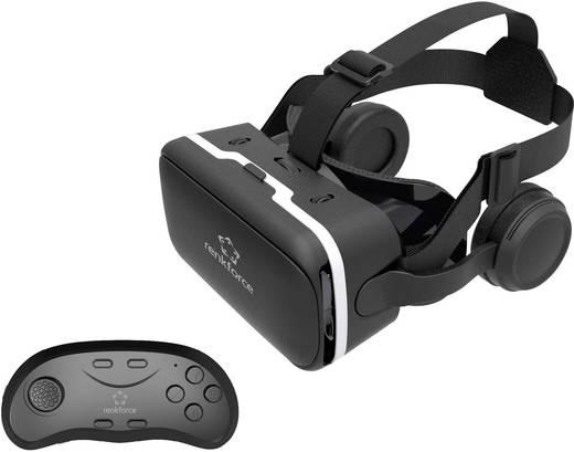 renkforce rf vr2 schwarz virtual reality brille mit headset mit gamepad kaufen. Black Bedroom Furniture Sets. Home Design Ideas
