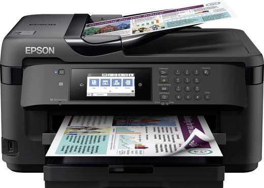 Epson WorkForce WF-7710DWF Tintenstrahl-Multifunktionsdrucker A3 Drucker, Scanner, Kopierer, Fax USB, LAN, WLAN, NFC, Du