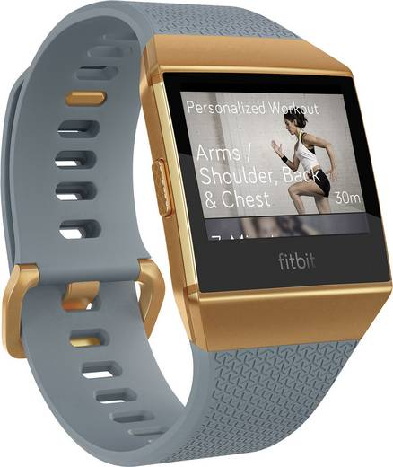 Smartwatch FitBit Ionic Slate Blue/Burnt Orange Schiefer, Blau, Orange