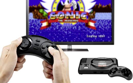 Retro Konsole SEGA Megadrive Flashback HD inkl. 2 Wireless Controller