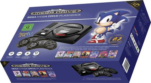 Retro Konsole SEGA Megadrive Flashback HD inkl. 2 Wireless Controller