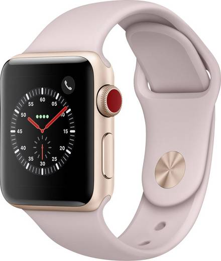 apple watch series 3 cellular 38 mm aluminiumgeh use gold sportarmband pink kaufen. Black Bedroom Furniture Sets. Home Design Ideas