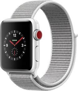 Image of Apple Watch Series 3 Cellular 38 mm Aluminiumgehäuse Silber Sportarmband Weiß-Silber