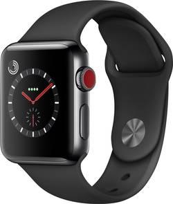 Image of Apple Watch Series 3 Cellular 38 mm Edelstahlgehäuse Space Black Sportarmband Schwarz