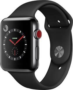 Image of Apple Watch Series 3 Cellular 42 mm Edelstahlgehäuse Space Black Sportarmband Schwarz