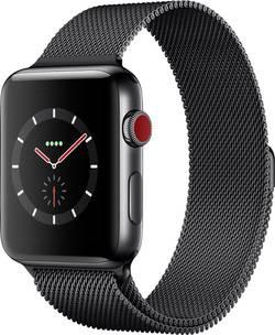 Image of Apple Watch Series 3 Cellular 42 mm Edelstahlgehäuse Space Black Milanaisearmband Space Black