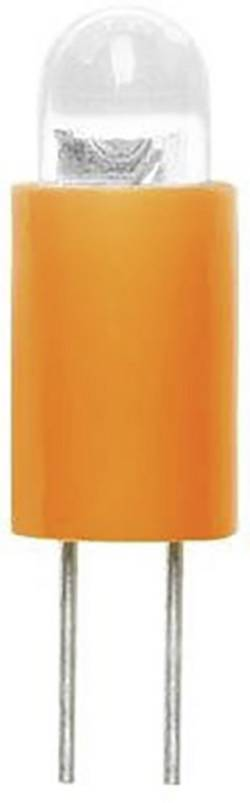 Ampoule LED Culot: BiPin 3.17 mm Barthelme 70117222 jaune 12 V/DC 1 pc(s)
