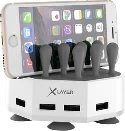 USB nabíjecí stanice Xlayer 212729, 6800 mA, bílošedá