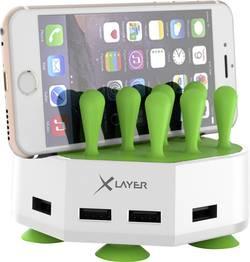 USB nabíjecí stanice Xlayer 212728, 6800 mA, bílá/zelená