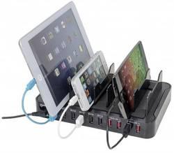 USB nabíjecí stanice Manhattan 180009, 17000 mA, černá