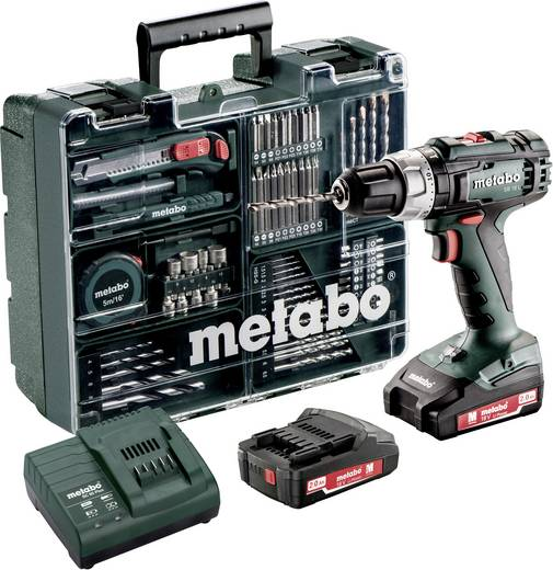 metabo sb 18 l akku schlagbohrschrauber 18 v 2 ah li ion inkl 2 akku. Black Bedroom Furniture Sets. Home Design Ideas