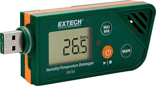 Extech RHT30 Multi-Datenlogger Messgröße Luftfeuchtigkeit, Temperatur -30 bis +70 °C 0.1 bis 99.9 % rF PDF Funkti