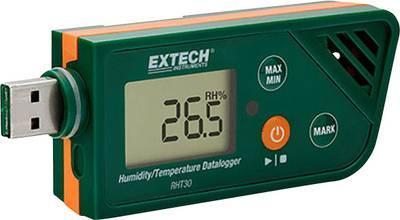 Extech RHT30 Multi-Datenlogger Messgröße Luftfeuchtigkeit, Temperatur -30 bis +70 °C 0.1 bis 99.9 % rF PDF Funktio