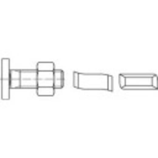 Hammerkopfschrauben M8 80 mm Stahl galvanisch verzinkt 100 St. 160651