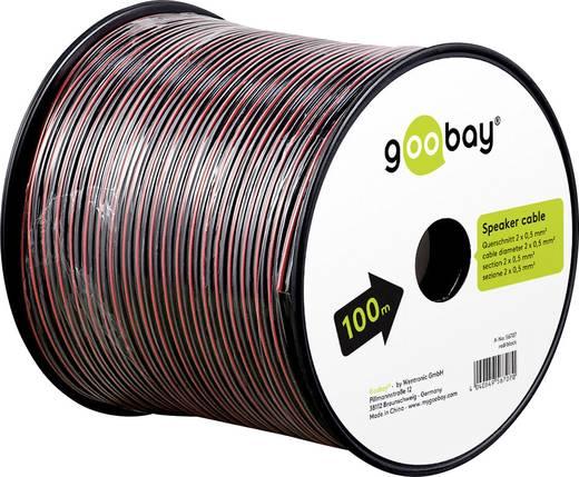 Lautsprecherkabel 2 x 4 mm² Rot/Schwarz Goobay 67739 25 m