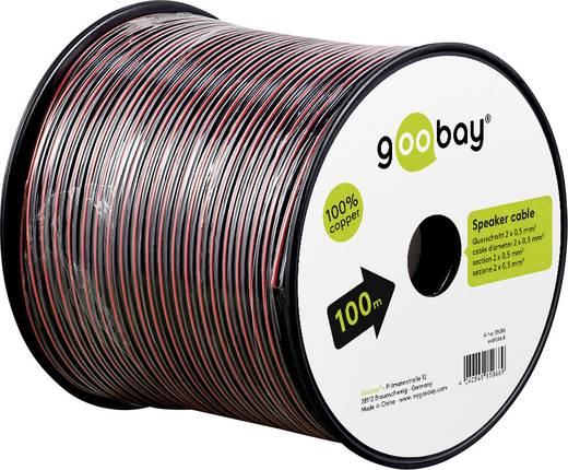 Lautsprecherkabel 2 x 0.50 mm² Rot/Schwarz Goobay 15090 25 m