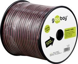 Câble haut-parleur Goobay 15085 2 x 2.50 mm² rouge/noir 100 m