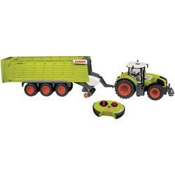 RC model traktor s vlečkou Claas Axion 870 + Claas Cargos 9600 HAPPY PEOPLE, 1:16, poľnohospodárske vozidlo, vr. akumulátorov