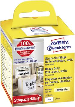 Avery-Zweckform 59 x 102 mm fólie bílá 50 ks permanentní A1976414 univerzální etikety