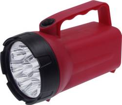 Image of Ampercell 00838 Batteriebetriebener Handscheinwerfer DIY 8 LED Rot/Schwarz LED 60 h