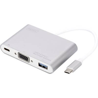 Digitus DA-70839 2+1 Port USB 3.0-Hub mit USB-C Stecker, mit Schnellladeport, mit Aluminiu Preisvergleich
