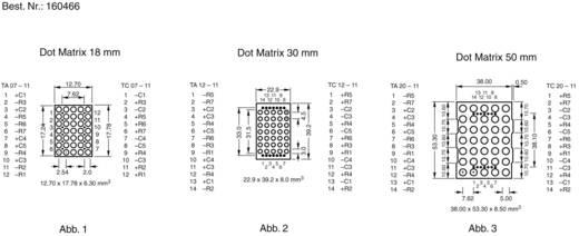 Punkt-Matrix-Anzeige Rot 30 mm 2 V Kingbright TC12-11HWA