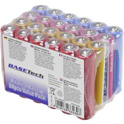 Mikrotužková batérie typu AAA alkalicko-mangánová Basetech 1170 mAh, 1.5 V, 24 ks