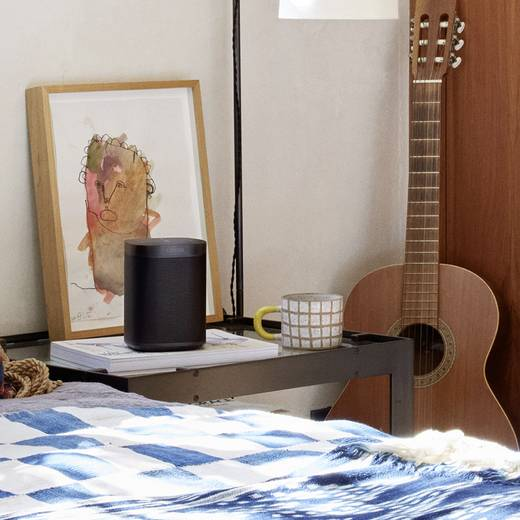 Multiroom Lautsprecher Sonos One WLAN Amazon Alexa direkt integriert Schwarz