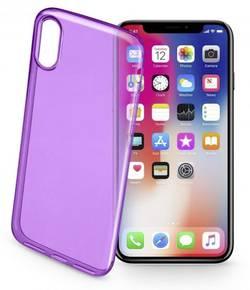 Coque arrière Cellularline COLORCIPH8V Adapté pour: Apple iPhone X, violet (transpar
