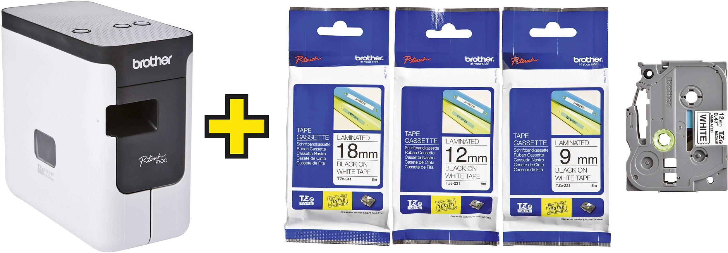Schriftband Tape GOLD-schwarz für BROTHER P-Touch H100LB