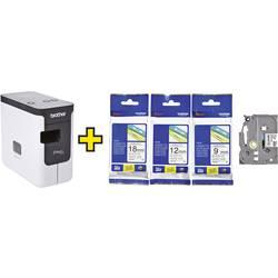 Image of Brother P-touch P700 Set Beschriftungsgerät Geeignet für Schriftband: TZe, HSe 3.5 mm, 6 mm, 9 mm, 12 mm, 18 mm, 24 mm