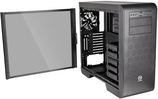 midi tower pc geh use thermaltake core v51 tg schwarz 3. Black Bedroom Furniture Sets. Home Design Ideas