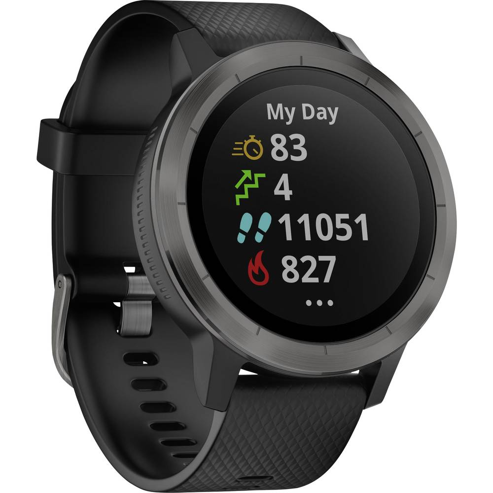 montre cardio gps avec capteur int gr garmin vivoactive 3 black m l gunmetal bluetooth sur le. Black Bedroom Furniture Sets. Home Design Ideas