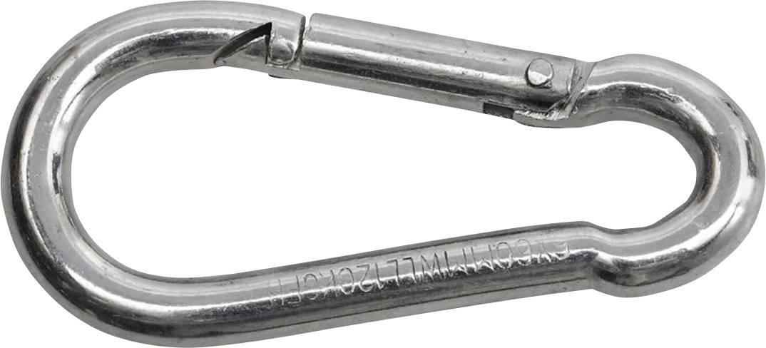 10 Stück Feuerwehr Karabinerhaken 60mm x 6mm Stahl Schwarz Karabiner DIN 5299