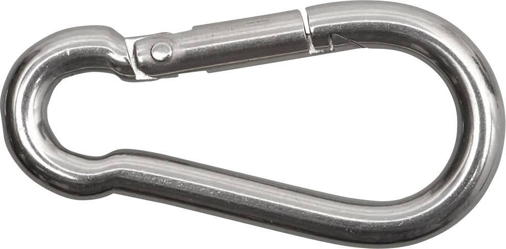 100 x FEUERWEHR KARABINERHAKEN 90 x 9mm Karabiner Stahl verzinkt Seil DIN 5299 C