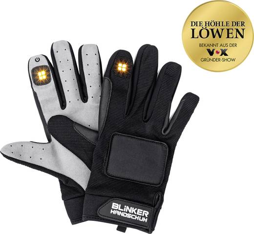 handschuhe blinker handschuh 0502 schwarz lang xs s. Black Bedroom Furniture Sets. Home Design Ideas