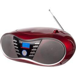 FM rádio s CD prehrávačom Dual P 60 BT, AUX, Bluetooth, USB, UKW, červená