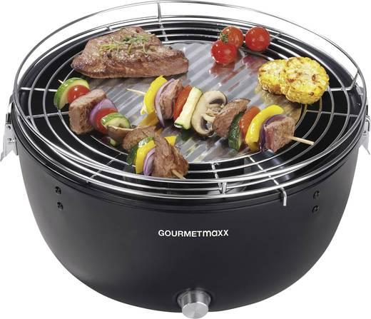 holzkohle grill gourmetmaxx 03898 grill fl che durchmesser 230 mm schwarz. Black Bedroom Furniture Sets. Home Design Ideas