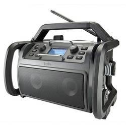 Internetové outdoorové rádio audisse Shokunin, Bluetooth, DAB+, internetové rádio, FM, USB, Wi-Fi, černá