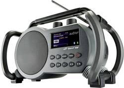 Internetové outdoorové rádio audisse Netbox, AUX, Bluetooth, DAB+, FM, USB, Wi-Fi, šedá