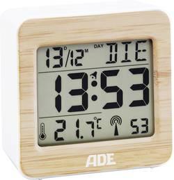 Image of ADE CK1705 Funk Wecker Weiß, Bambus